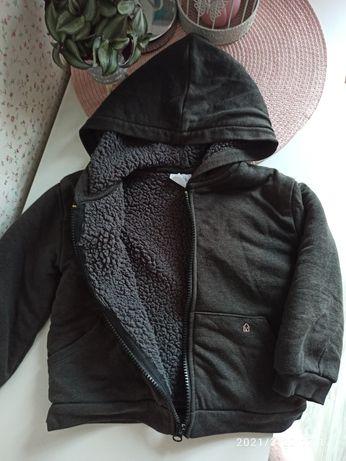 Ocieplana bluza kurtka dresowa Zara rozmiar 98