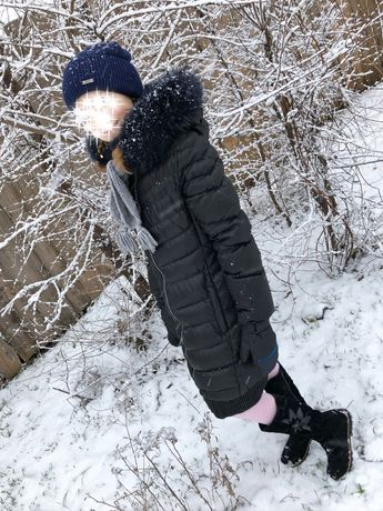 Пальто пуховик 146см