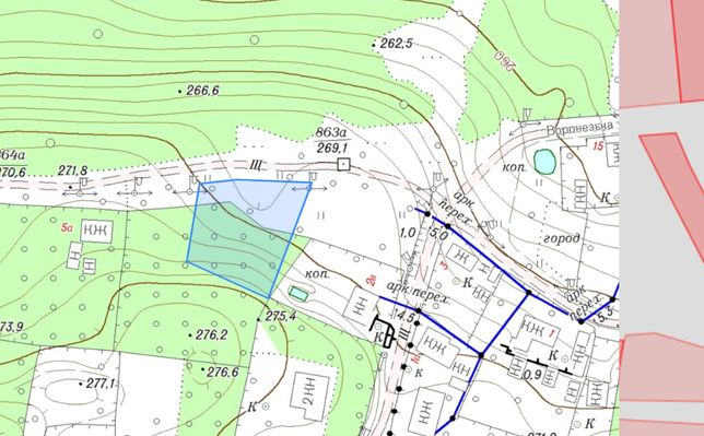 Земельна ділянка для будівництва ж/б