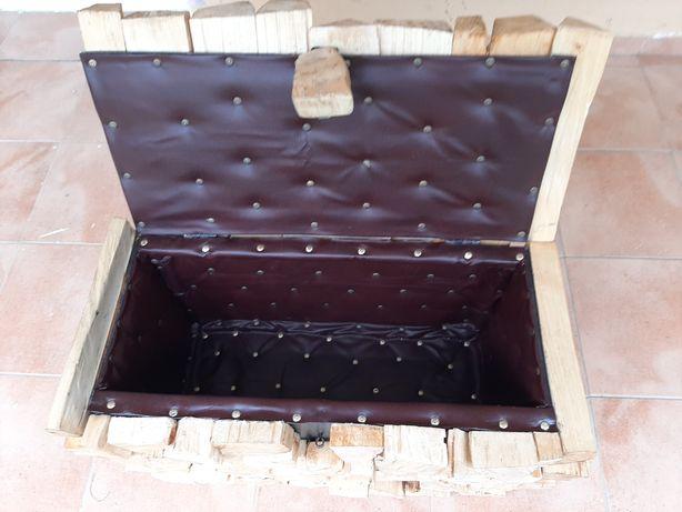 Сондук із бука декоративний муляж під дрова для каміна