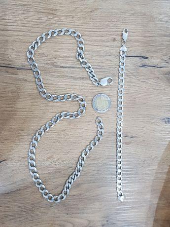 Srebrny łańcuszek komplet 925