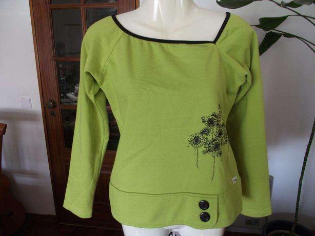 Camisola senhora ou menina marca Goodvibes cor verde