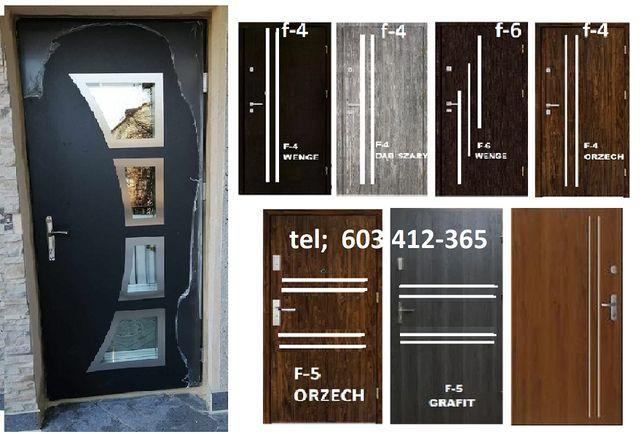 Drzwi wewnątrzklatkowe do mieszkań ZEWNĘTRZNE-wejściowe z montażem