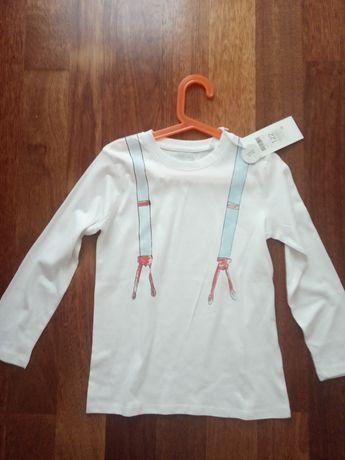Nowa koszulka na długi rękaw w rozmiarze 122