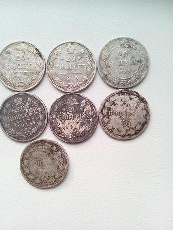 Срібні монети 1914,15,23.