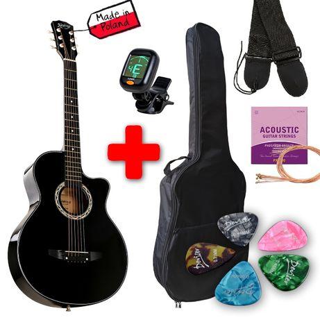Гитара акустическая 3/4 + чехол, ремень, тюнер, струны , медиаторы