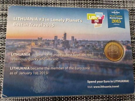 Монета 1 Евро Литва