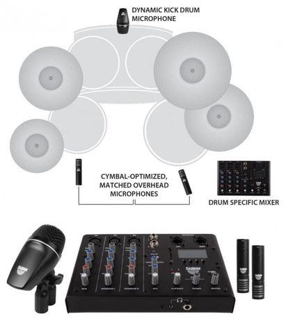 SABIAN SSKIT mikser/rejestrator+ 3 mikrofony 2 wiarianty i GRATIS