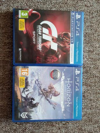 Две Игры для PS4 HORIZON and gran TURISMO