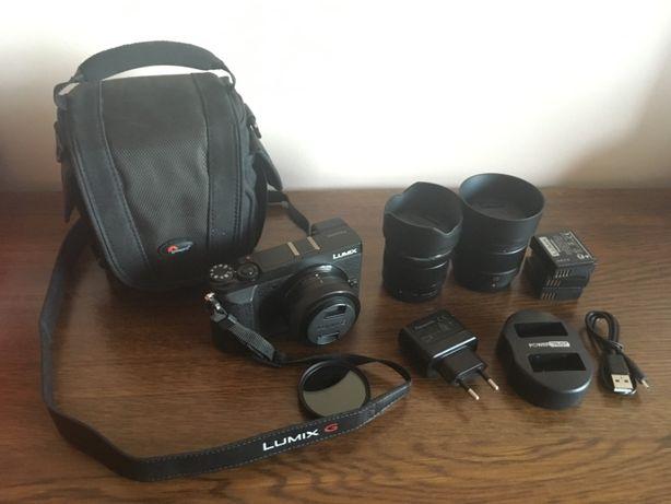 Panasonic Lumix GX80 + 3 obiektywy + akcesoria