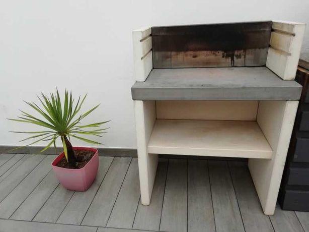 Churrasqueira Barbecue estilo moderno, em betão [95x78x47]