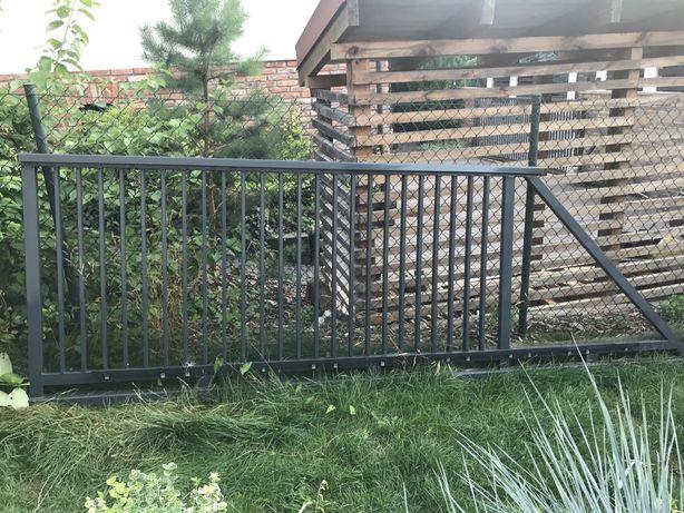 Brama przesuwna, furtka ocynkowana, lamierowana proszkowo