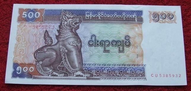 BIRMA 500 KYATS Kolekcjonerski Banknot - 1 sztuka UNC