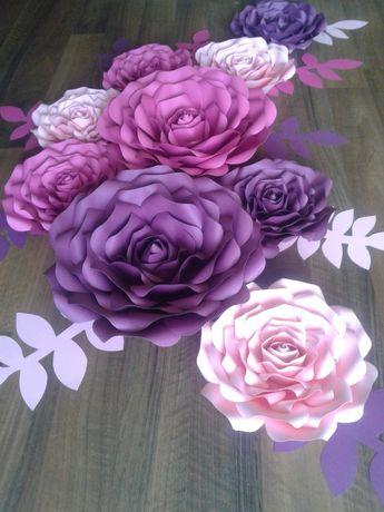 Kwiaty Chanel z papieru