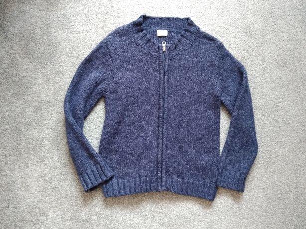 Sweter rozpinany granatowy 116/122 F&F