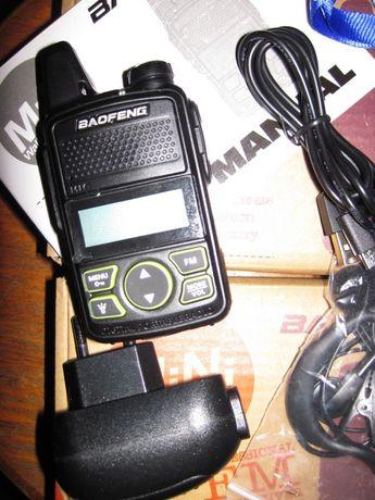 Радиостанция BAOFENG T1 мини дальность 1-3 км. частота 400 - 470MHz