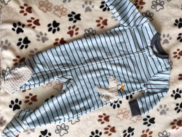Флисовый человечек комбинезон пижама Carters Картерс