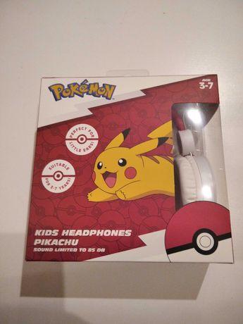 Słuchawki POKEMON przewodowe dla dzieci Pikachu NOWE nintendo