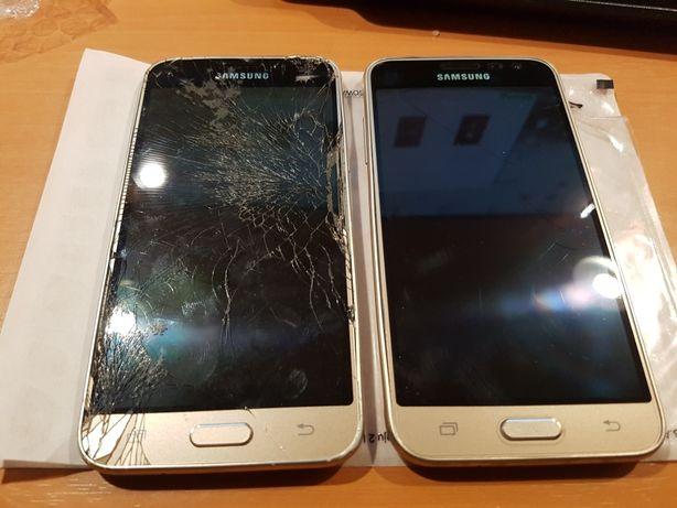 Samsung Galaxy J3 2016 uszkodzone 2szt