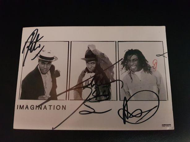 Imagination- postal autografado