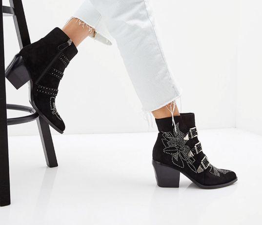 Продам замшевые ботинки (казаки) Grand Style, 38 р.