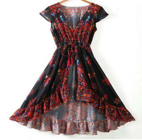 Nowa letni sukienka maxi 2020r piękna boho promocja elegancka
