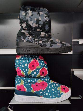Оригинальные тёплые сапоги Adidas Slip On S76119 S76118