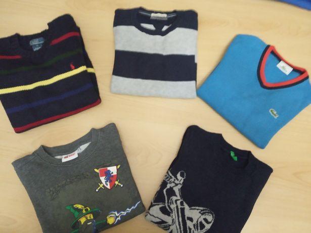 Camisolas Benetton, Lego, Tommy Ralph Lauren 6 anos