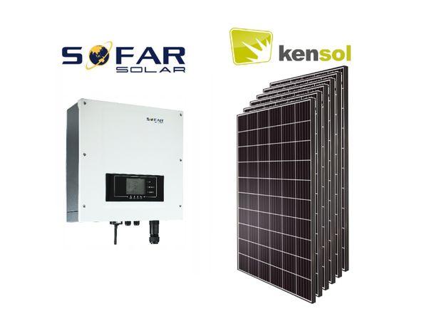 Fotowoltaika, zestaw instalacji fotowoltaicznej Kensol 6,27kW + montaż