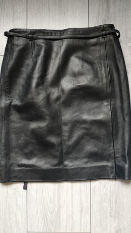 Кожаная юбка-футляр