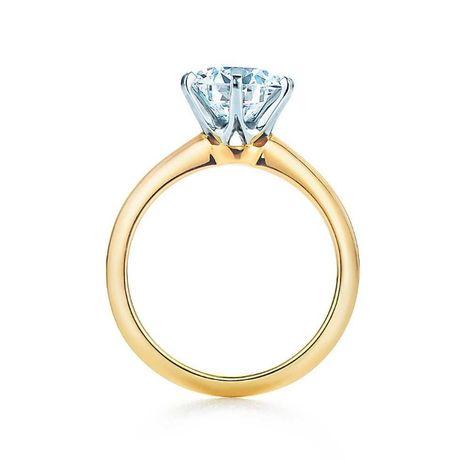 Pierścionek Złoty z Diamentem Brylantem 0.50 ct Tifany -75%