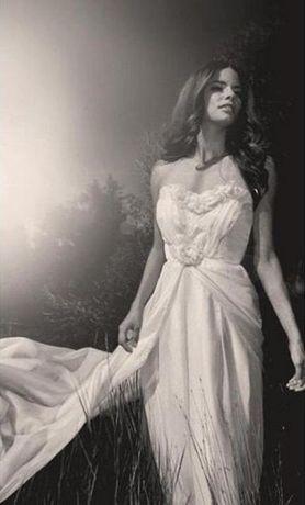 suknia ślubna rozmiar 38 szyfon Lauren Elaine BELLA