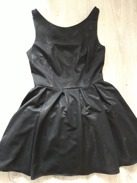sukienka rozkloszowana polyskujaca wesele bal 40/L Pretty Girl j.nowa