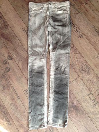 Spodnie szare cieniowane Slim S