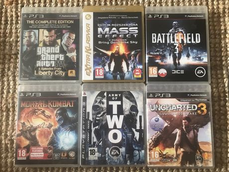 Gry ps3 ps4 pc Fifa 18 Mortal kombat Battlefield  Uncharted Mass ef