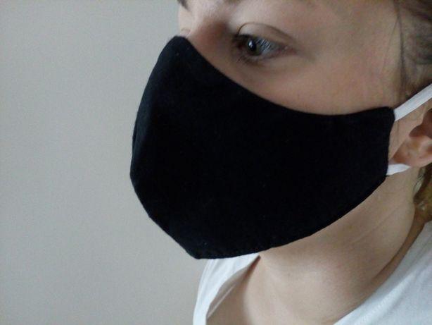 Profilowana maseczka ochronna na twarz czarna hurt producent wysyłka