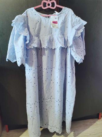 Платье летнее новое гтлубое
