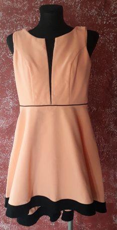 Piękna brzoskwiniowa sukienka 34 XS/36 S