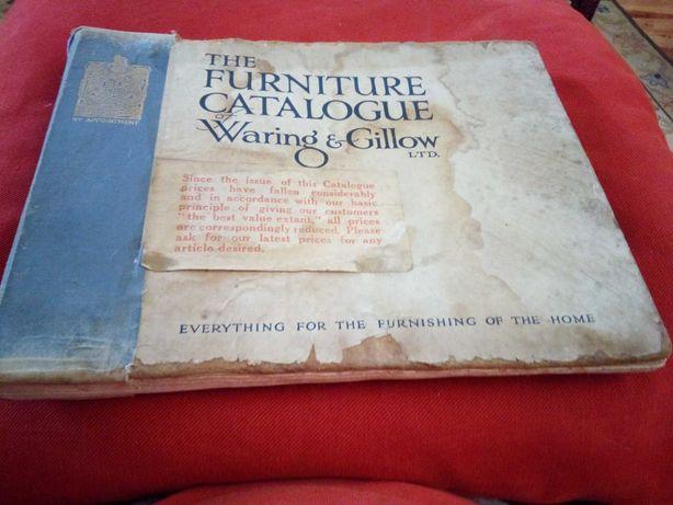 Catálogo antigo, inglês, de móveis