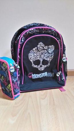 Zestaw Monster High: Plecak, piórnik, koc, puzzle i pościel.