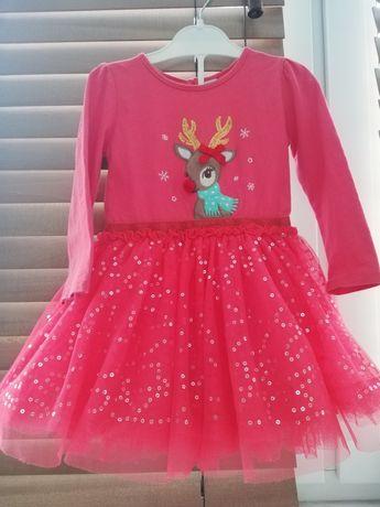 Новогодние платье р.92-98, платье на новый год для девочки 2-3 года