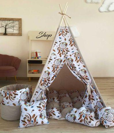 Детская палатка вигвам, домик. Акция! Подушечка в подарок.