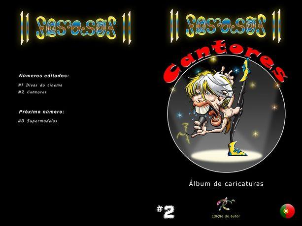 11 Famosos Cantores - A arte da caricatura