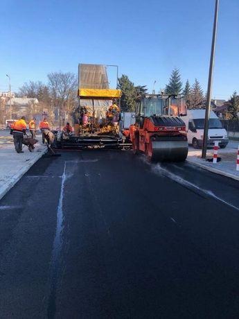 Budowa dróg asfaltowanie łatanie dziur układanie asfaltu asfalt droga