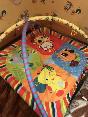 Развивающий многофункциональный, игровой коврик Lindo с дугами.