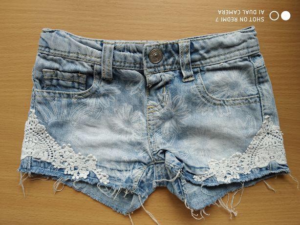 Spodenki jeansowe dziewczęce Primark 98/104