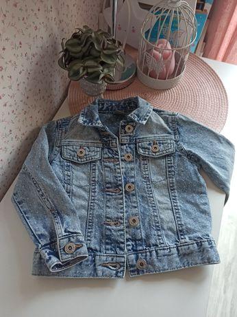 Kurtka jeans dziewczęca rozmiar 98