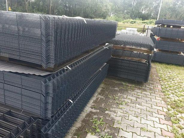 Panel ogrodzeniowy ocynk+ral czarny grafit zielony brąz 123cm fi 4