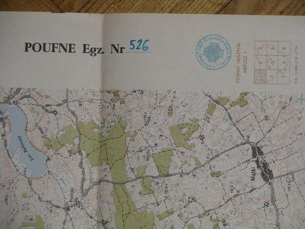 Autentyczna mapa topograficzna tzw. powiatówka_1964 rok–OLSZTYN-1/526.