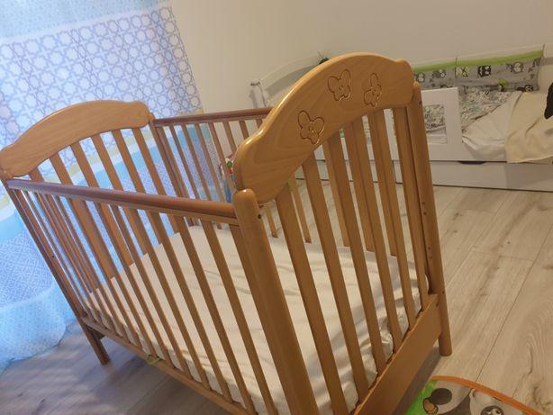 Piękne bukowe łóżeczko dziecięce cosatto okazja